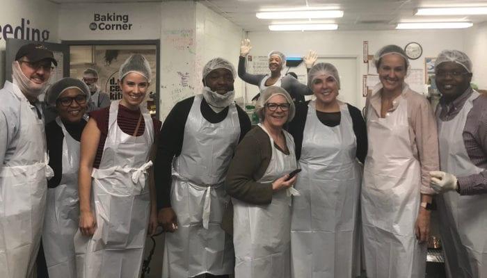 CAQ Staff Volunteering at DC Central Kitchen